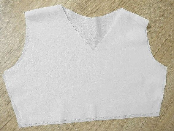 how to sew a v neckline