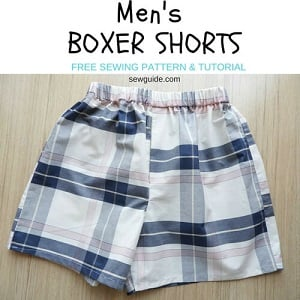 mens boxer shorts pattern