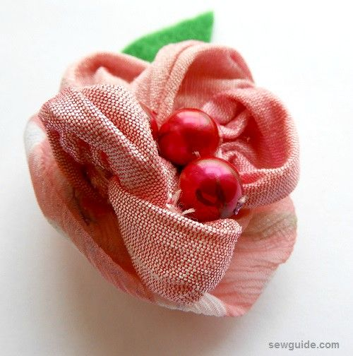 make fabric roses