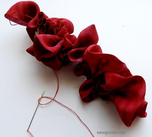 make easy fabric roses