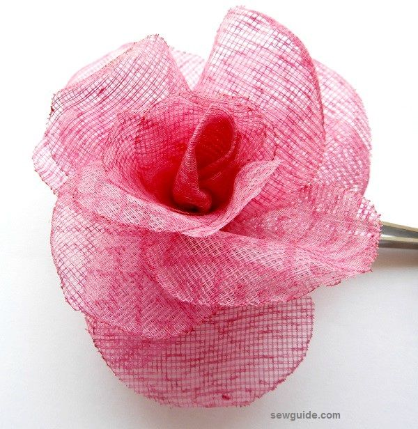 fabric rose making