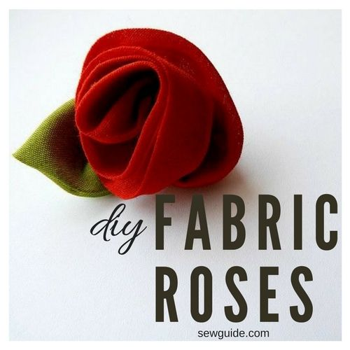 diy fabric rose making