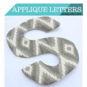 applique letters