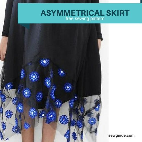 asymmetrical skirt pattern