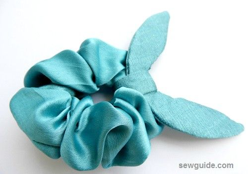 sewing scrunchies with fabric