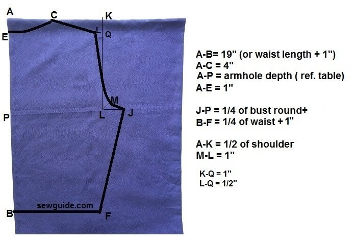 fron tie shirt pattern