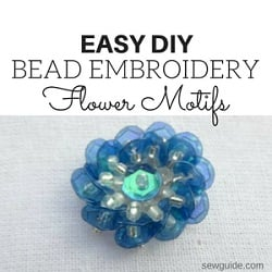 bead embroidery flower motif