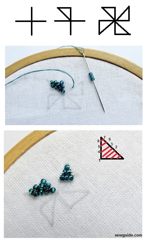 bead embroidery flowers