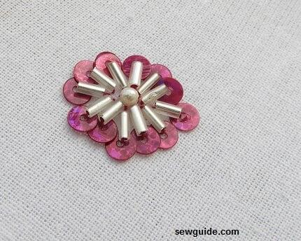 bead flower motifs
