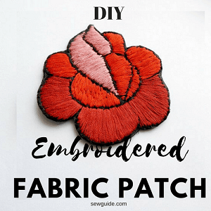 embroidered fabric patch diy tutorial