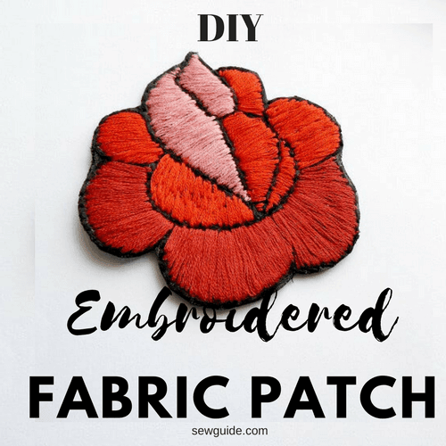 DIY embroiderd clothing patches