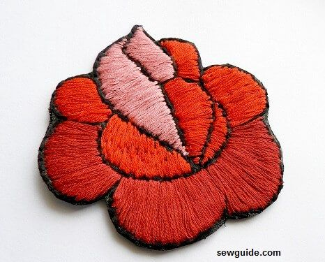 make embroidered fabric patches