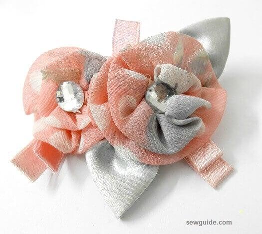 fabric flower brooch tutorials
