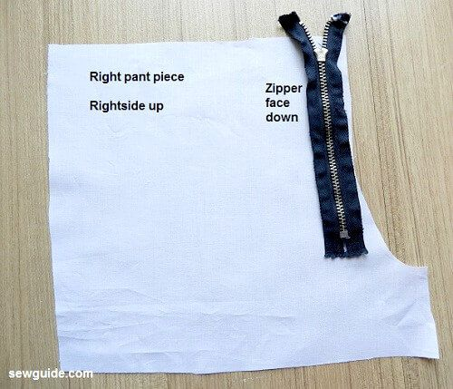 pant fly zip tutorial