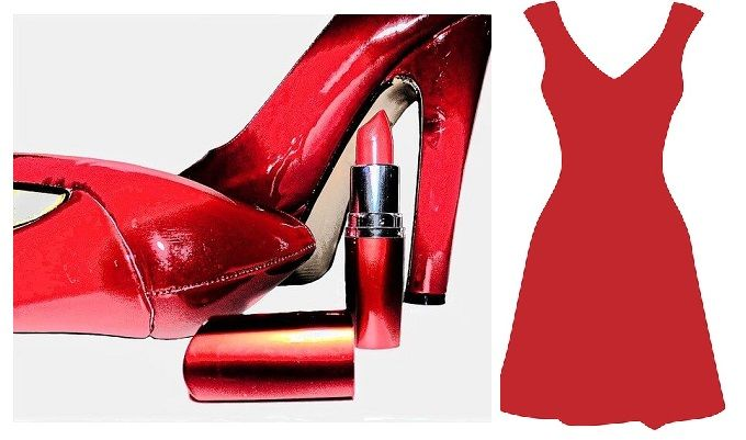 red dress accessories