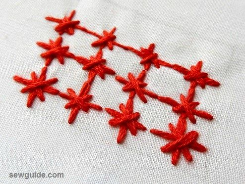 textured background hand embroidery stitches
