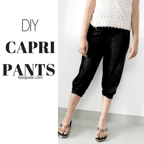 capri pants sewing pattern