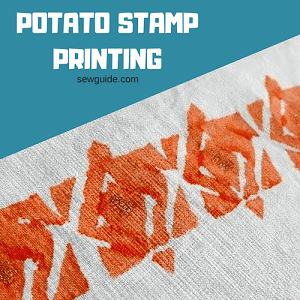 potato stamp printing