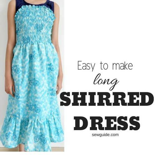 easy to make shirred dress