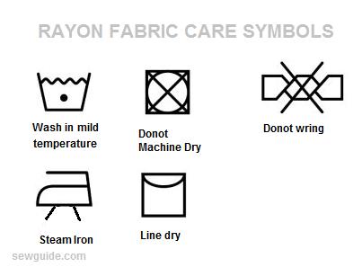 viscose rayon fabric care label