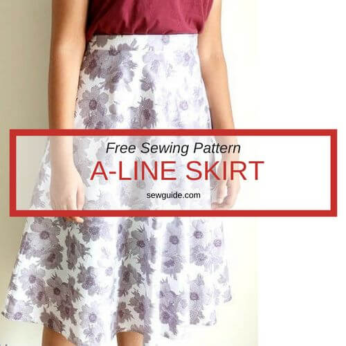 Make a simple A-Line SKIRT - DIY Pattern and sewing tutorial - Sew Guide