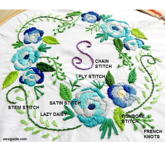 25 Beautiful Ways To Stitch Embroidery Flowers Sew Guide