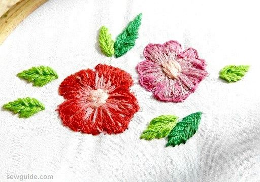 10 super easy Flower Embroidery Designs