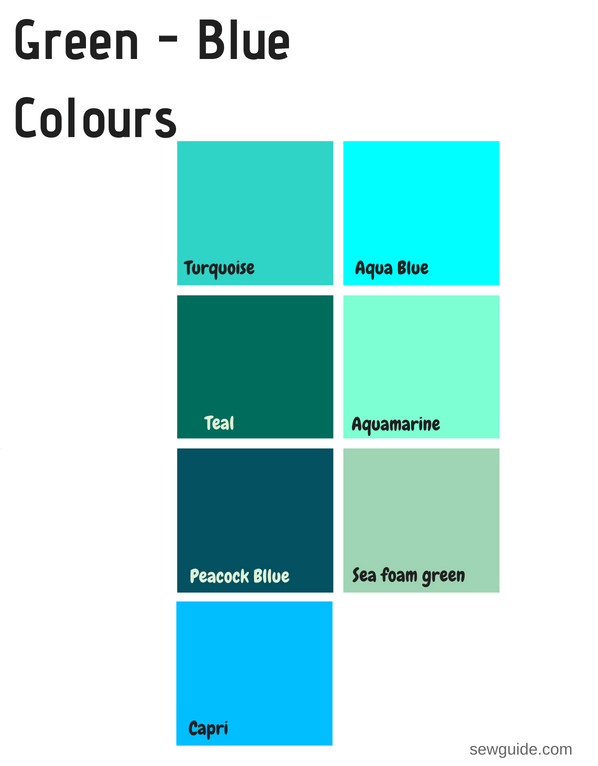 colours and names for reference