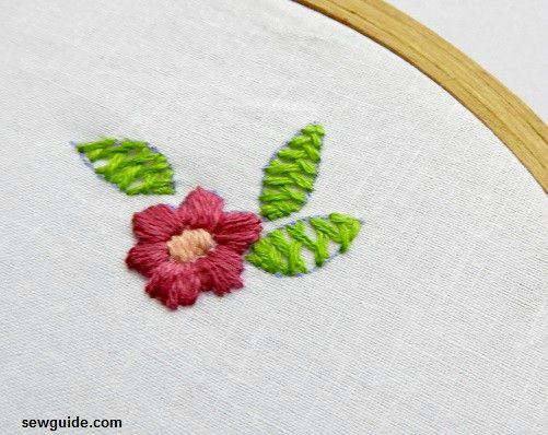 leaf embroidery