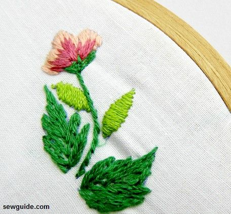 Leaf embroidery : 15 different ways to embroider leaves