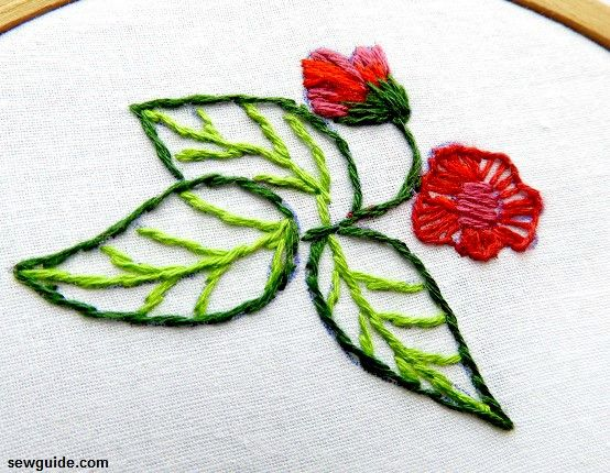 leaf embroidery designs