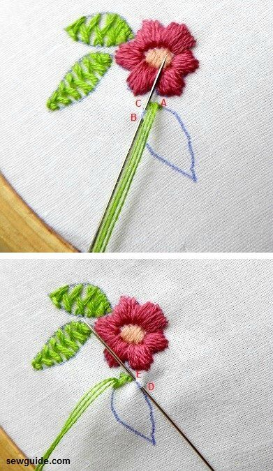 Leaf embroidery : 15 different ways to embroider leaves - Sew Guide