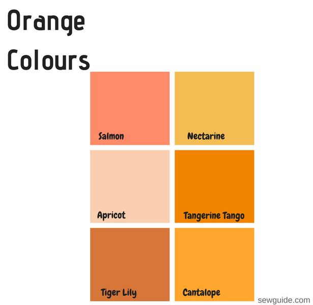 colour names in fashion designing