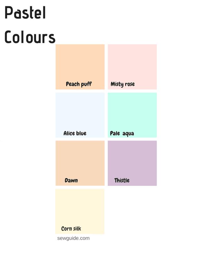 pastel colour names