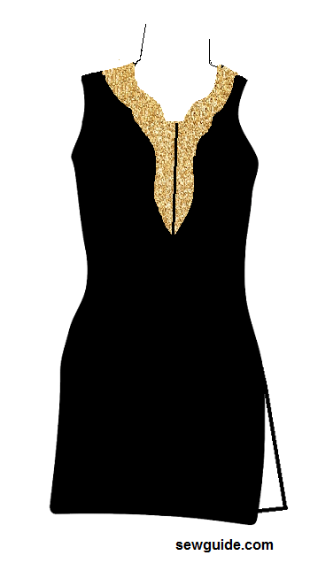 punjabi suit neck design