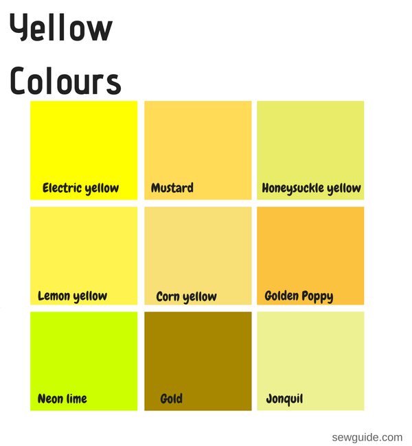 Color Names In Fashion Design An Easy Reference Guide For 100 Colours Sew Guide