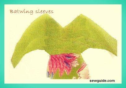 batwing sleeves