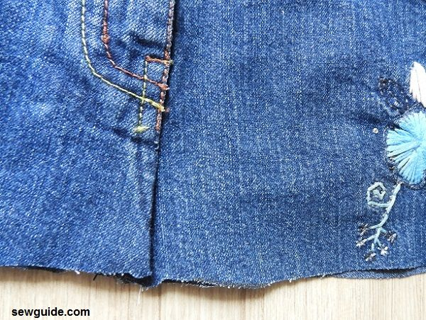 f9853fcf1f2d3a Make beautiful {Jean Skirts} : How to cut up your jeans and sew a ...