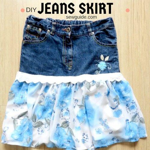 c6900688a Make beautiful {Jean Skirts} : How to cut up your jeans and sew a ...