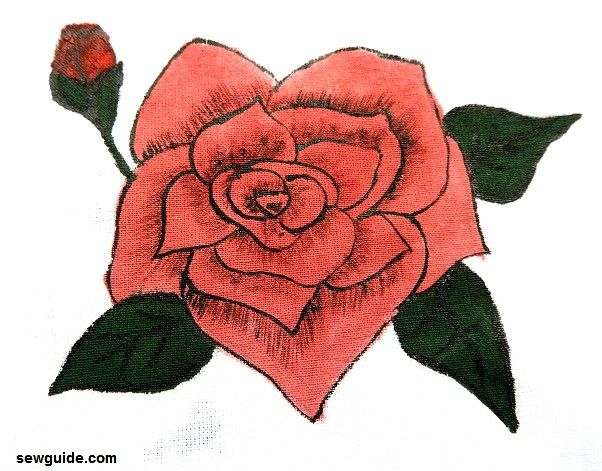 how to paint a rose step by step