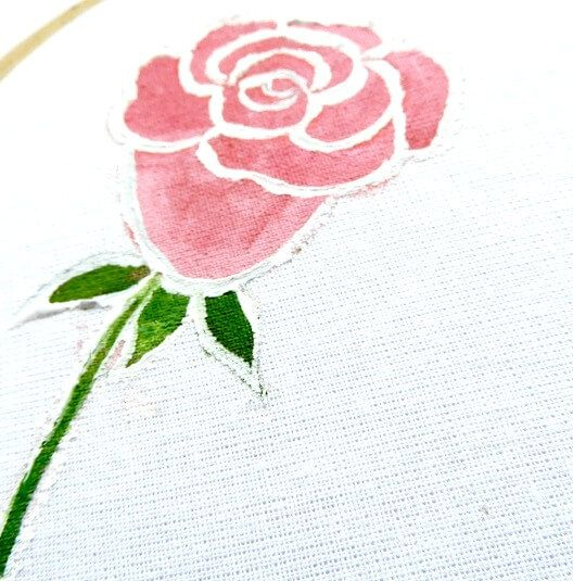 easy rose painting