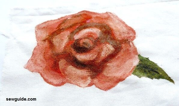 how to paint a rose on fabric for beginners