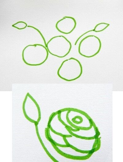 fabric painting rose