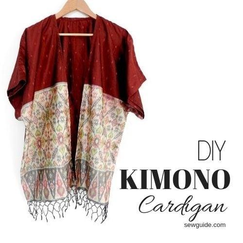 kimono cardigan diy pattern