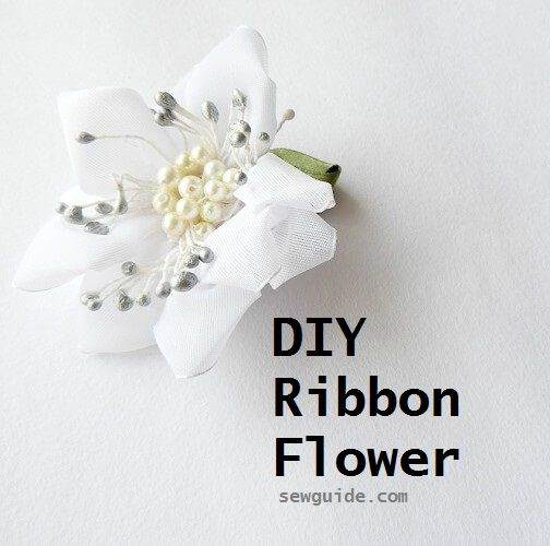 easy ribbon flowers