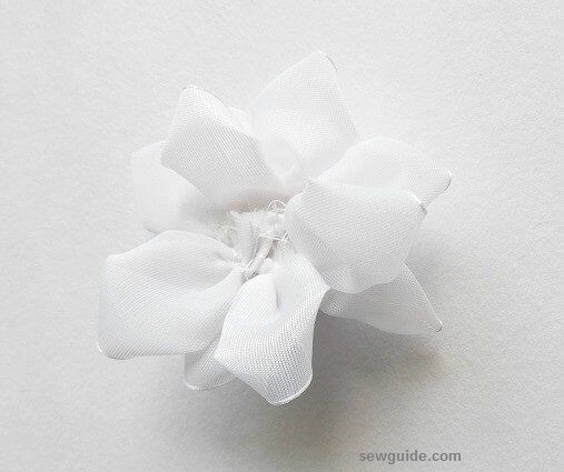 ribbon flower making tutorial