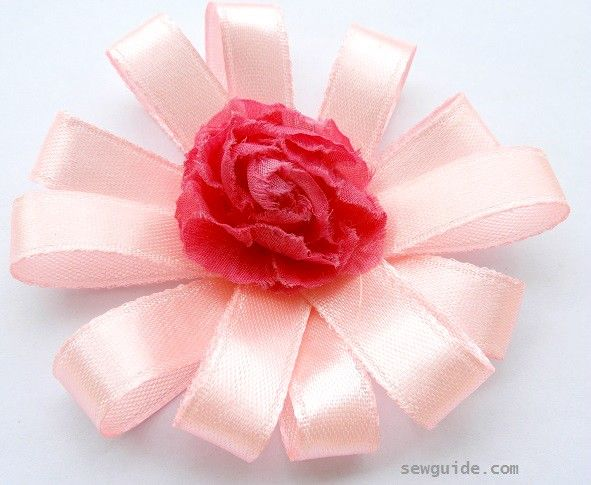 ribbon flower making