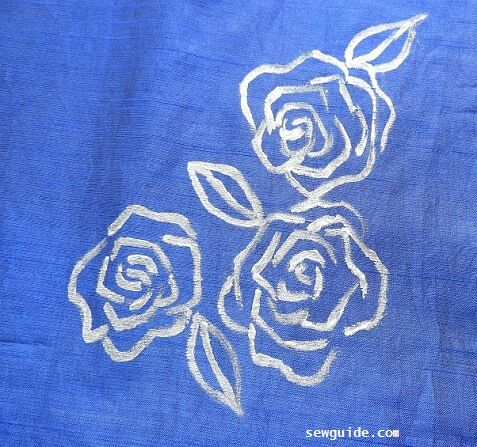embossed fabric painting