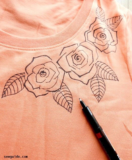 how to do fabric painting on tshirts