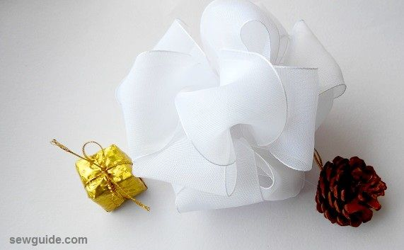 christmas bow making tutorial